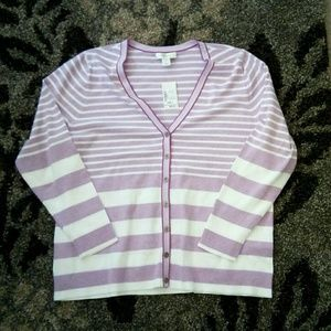 New Lavender striped sweater